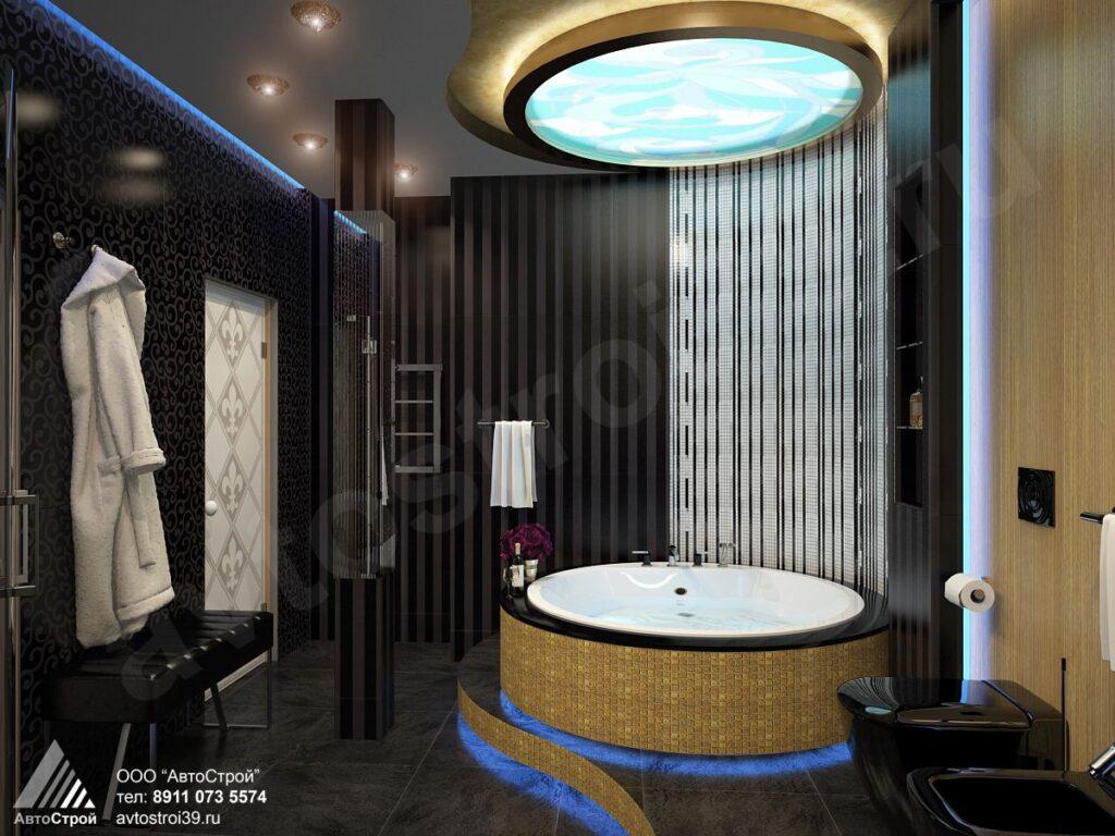 дизайн ванной комнаты в стиле ар деко Калининград