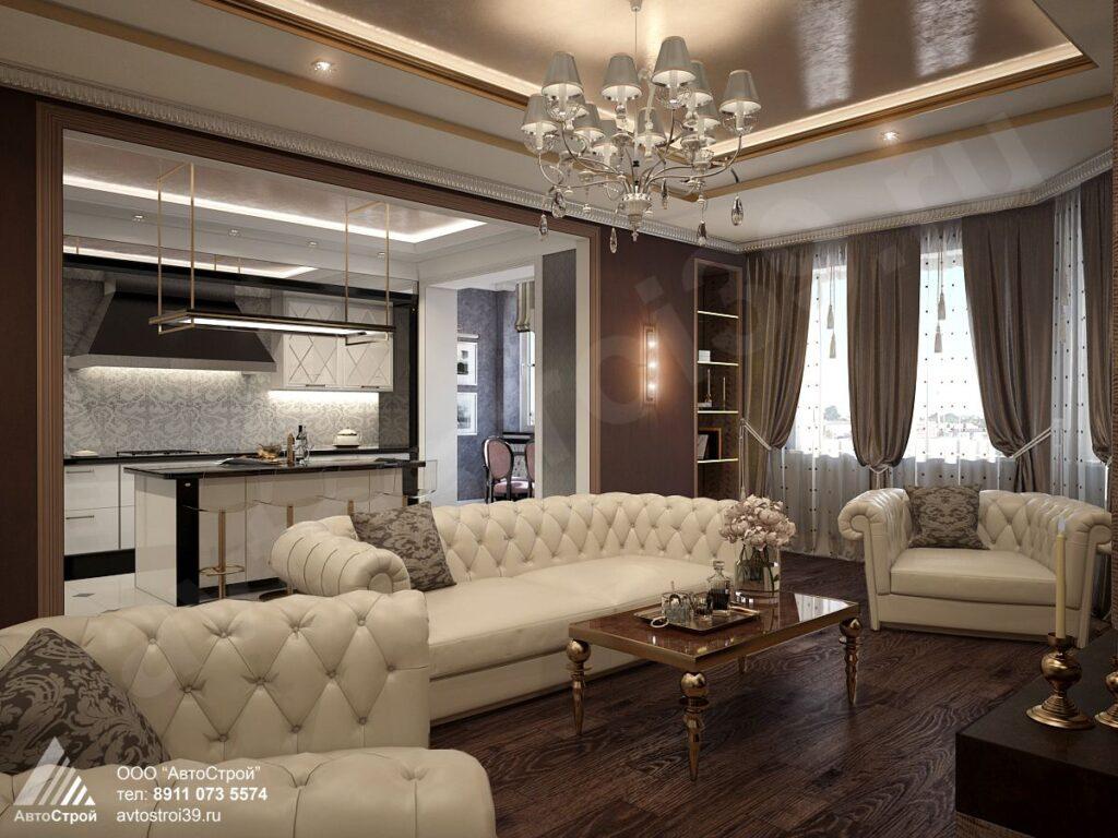 дизайн двухуровневой квартиры Калининград
