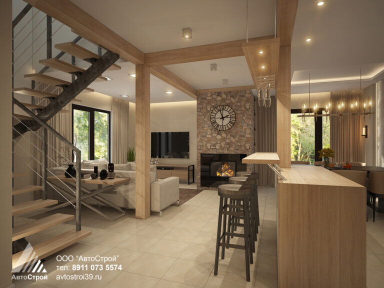 дизайн дома в эко стиле Калининград
