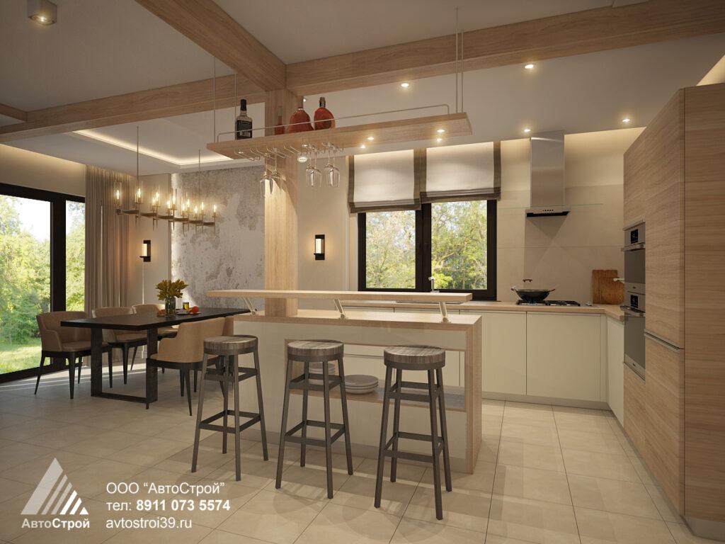 дизайн дома в стиле шале Калининград