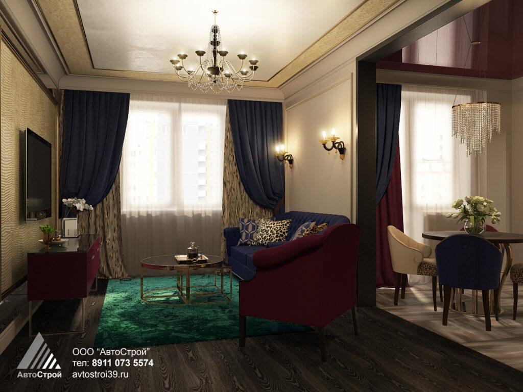 дизайн квартиры в стиле ар деко Калининград