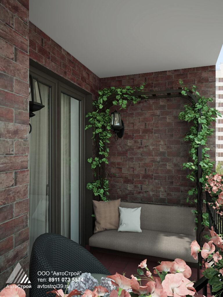 дизайн балкона Калининград