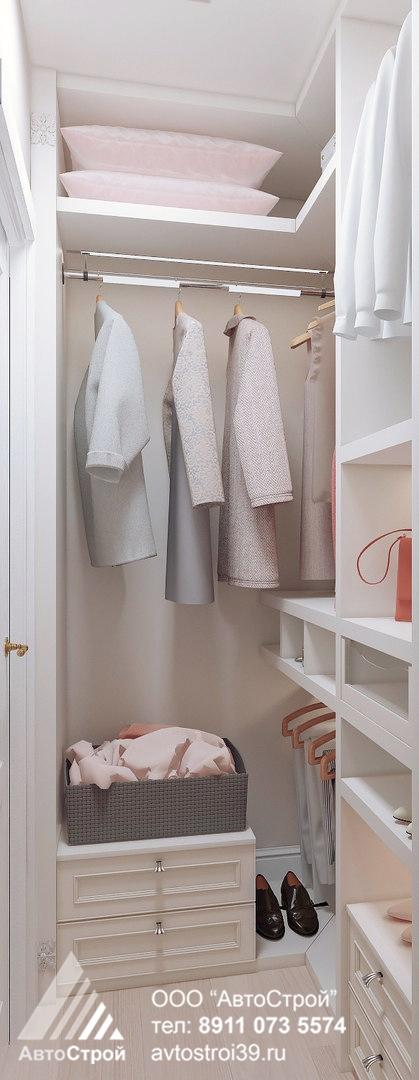 дизайн интерьера гардеробной в классическом стиле Калининград