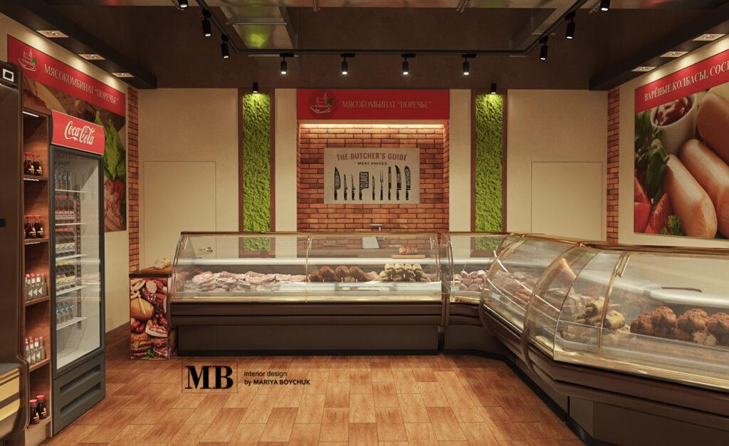 дизайн мясного магазина в г. Калининград