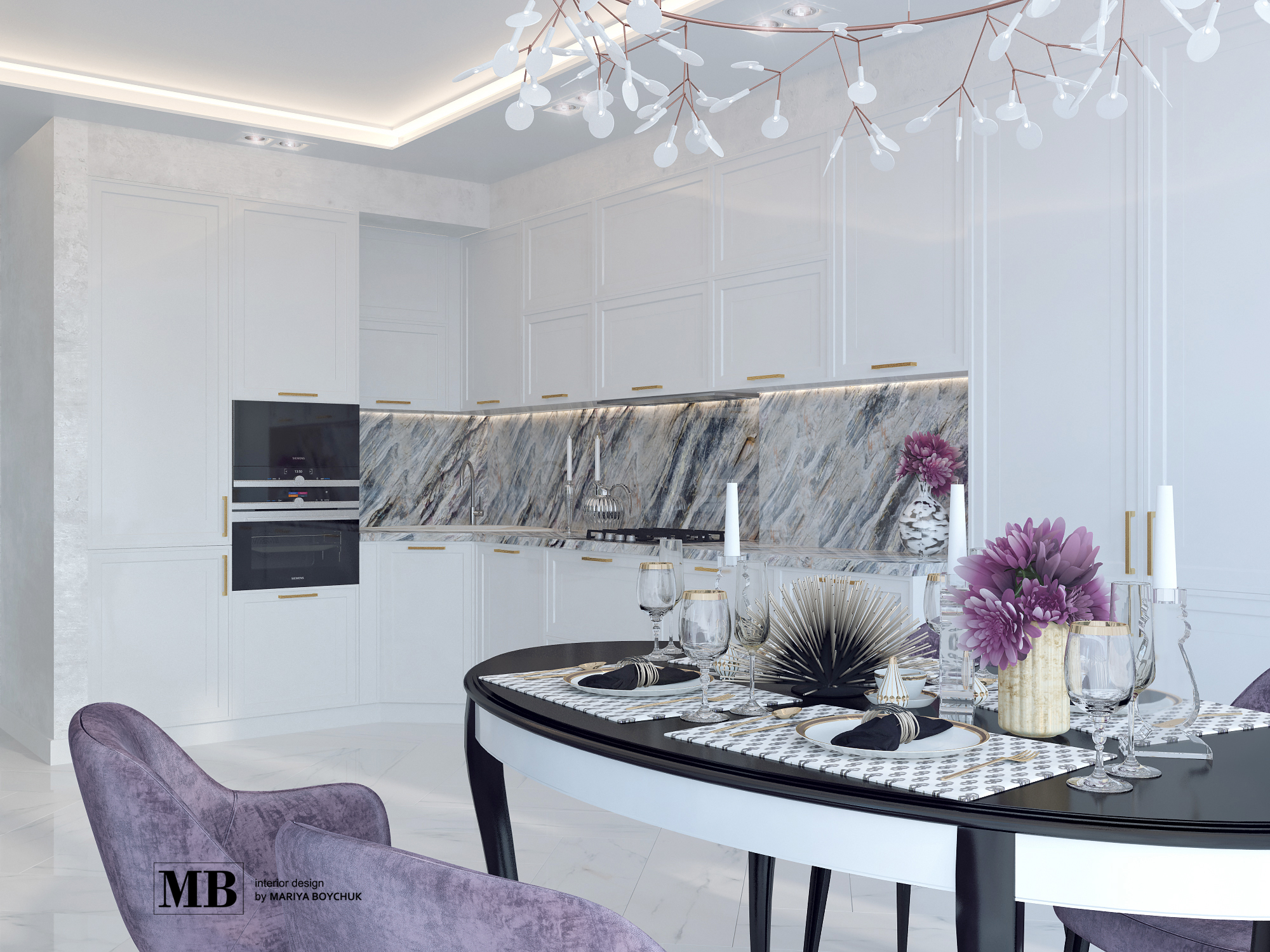 современный дизайн интерьера квартиры в г. Калининград