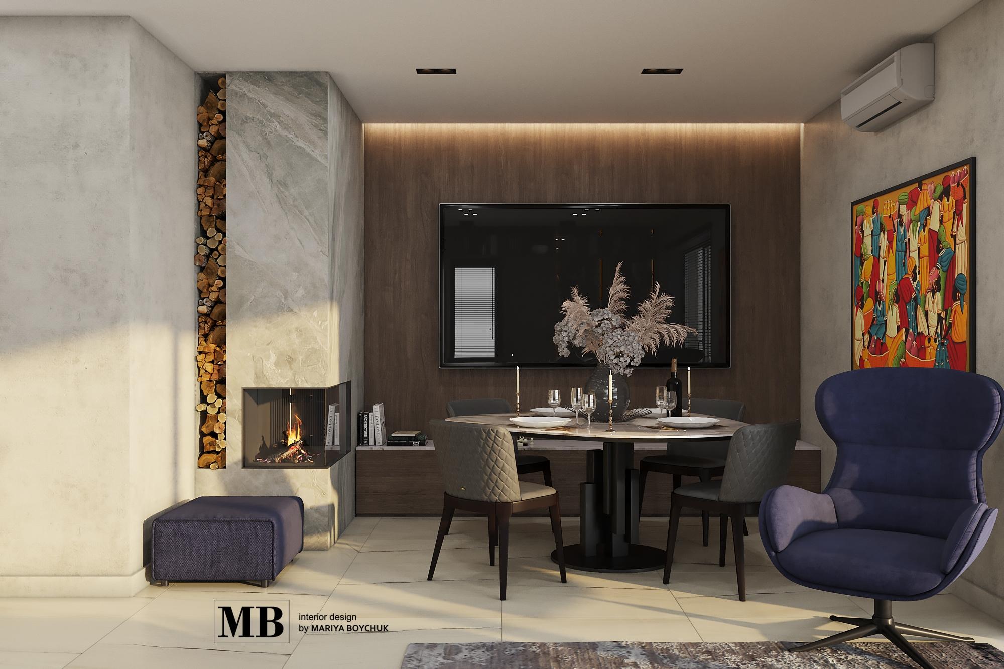 современный дизайн интерьера дома